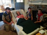 Mom with her Eagle Scouts